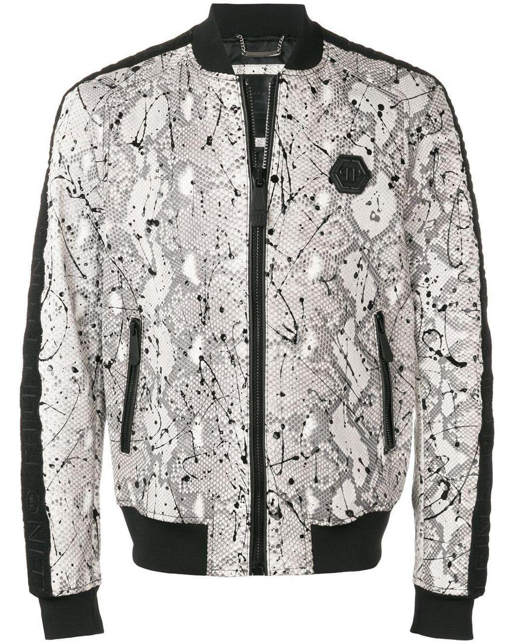 2019 auténtico mejor lugar para varios estilos Philipp Plein Synthetic Logo Trim Bomber Jacket for Men - Lyst