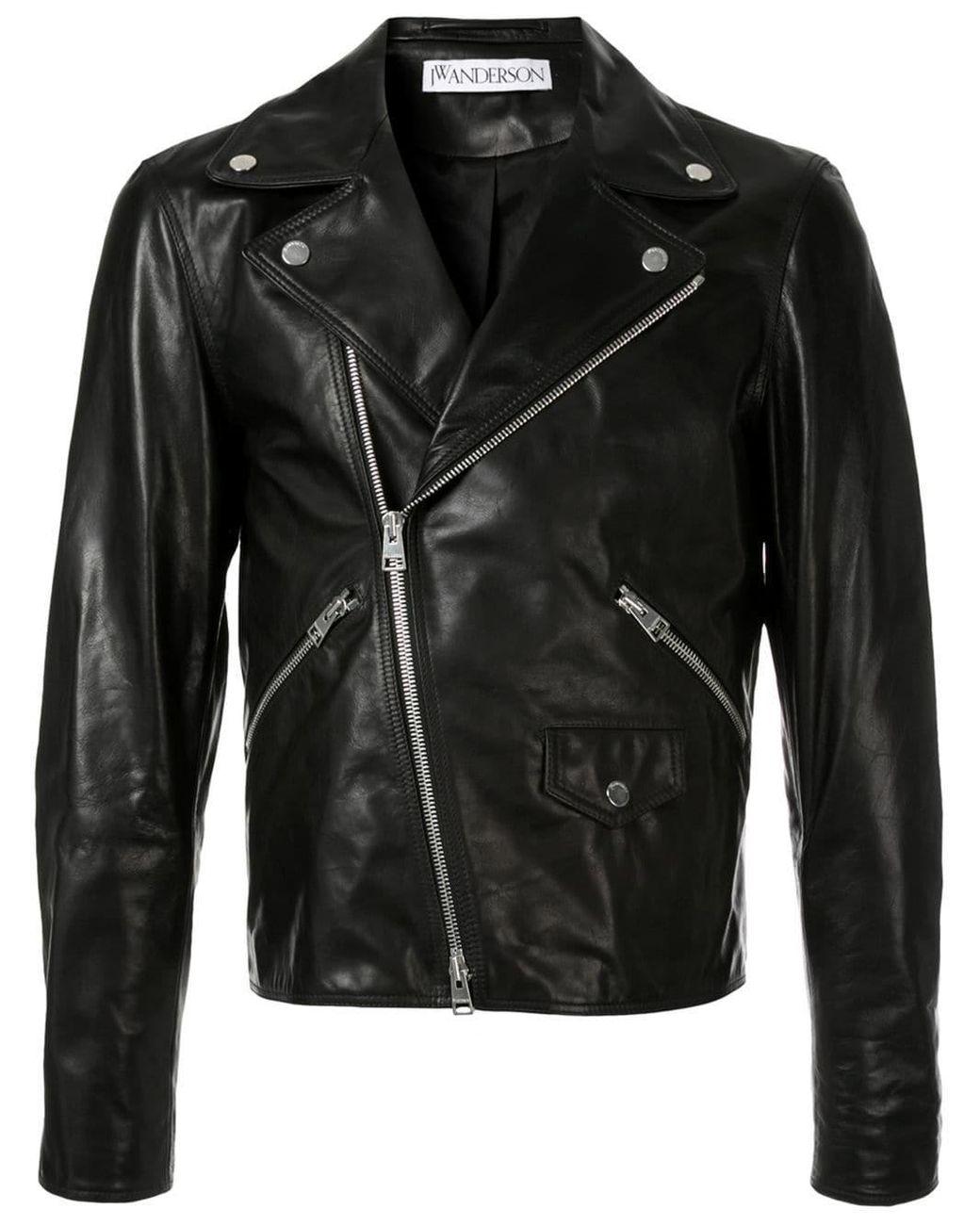 Lyst - JW Anderson Lightweight Leather Jacket in Black for Men
