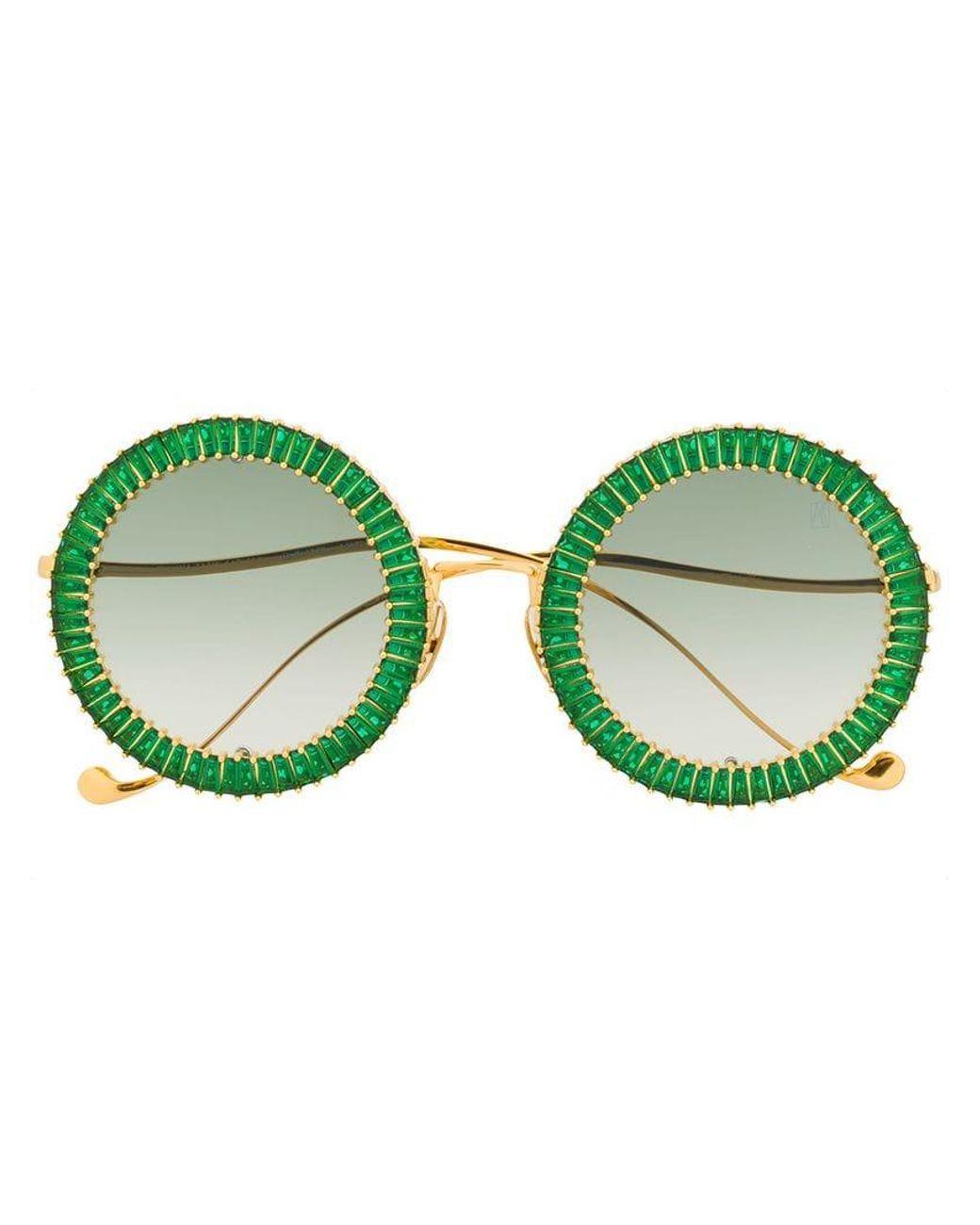 74670745fa Anna Karin Karlsson Crystal Embellished Sunglasses in Metallic - Lyst