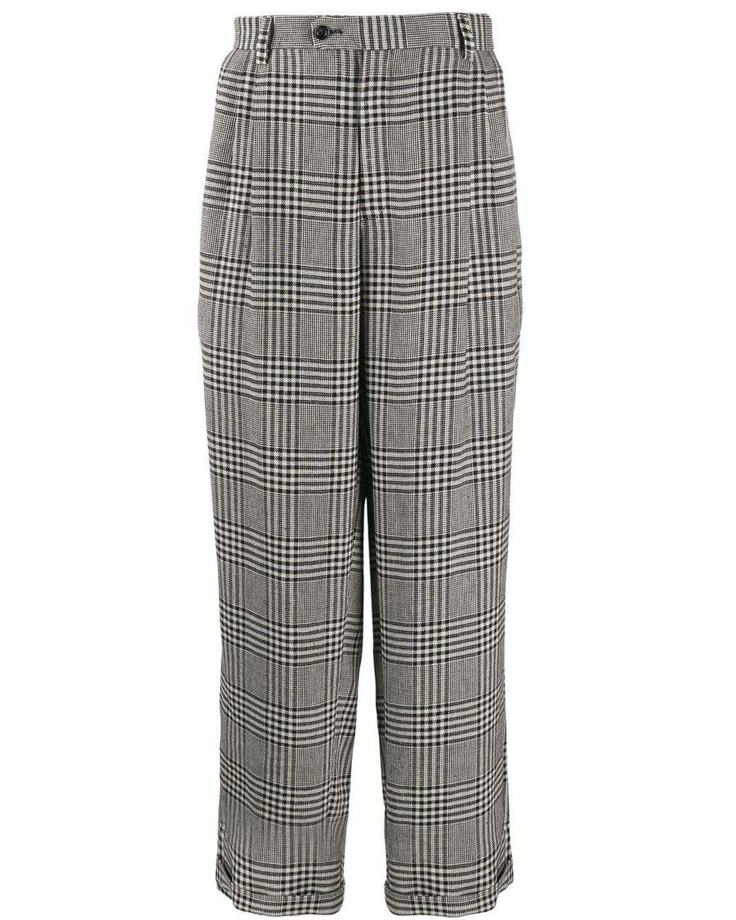 1fc1719e2e Men's Gray Prince Of Wales Cotton Pants