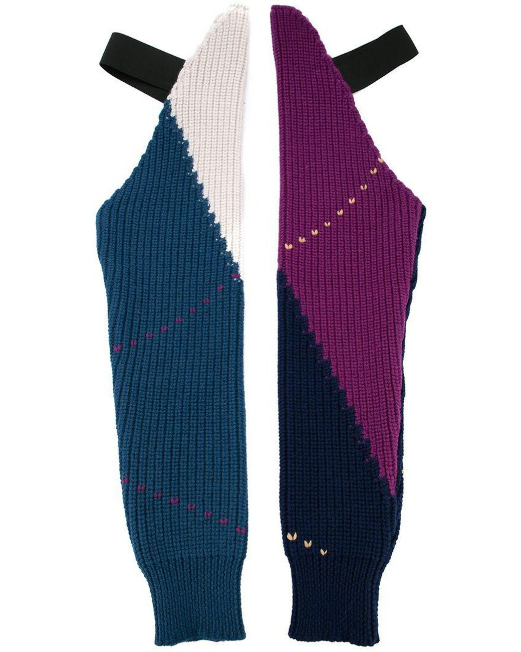 cd03f530997 Raf Simons Colour-block Gloves in Blue - Lyst