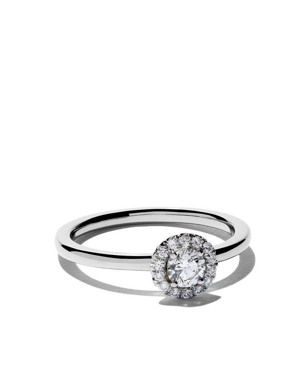 De Beers Platinum My First Aura Solitaire Diamond Ring Save 6