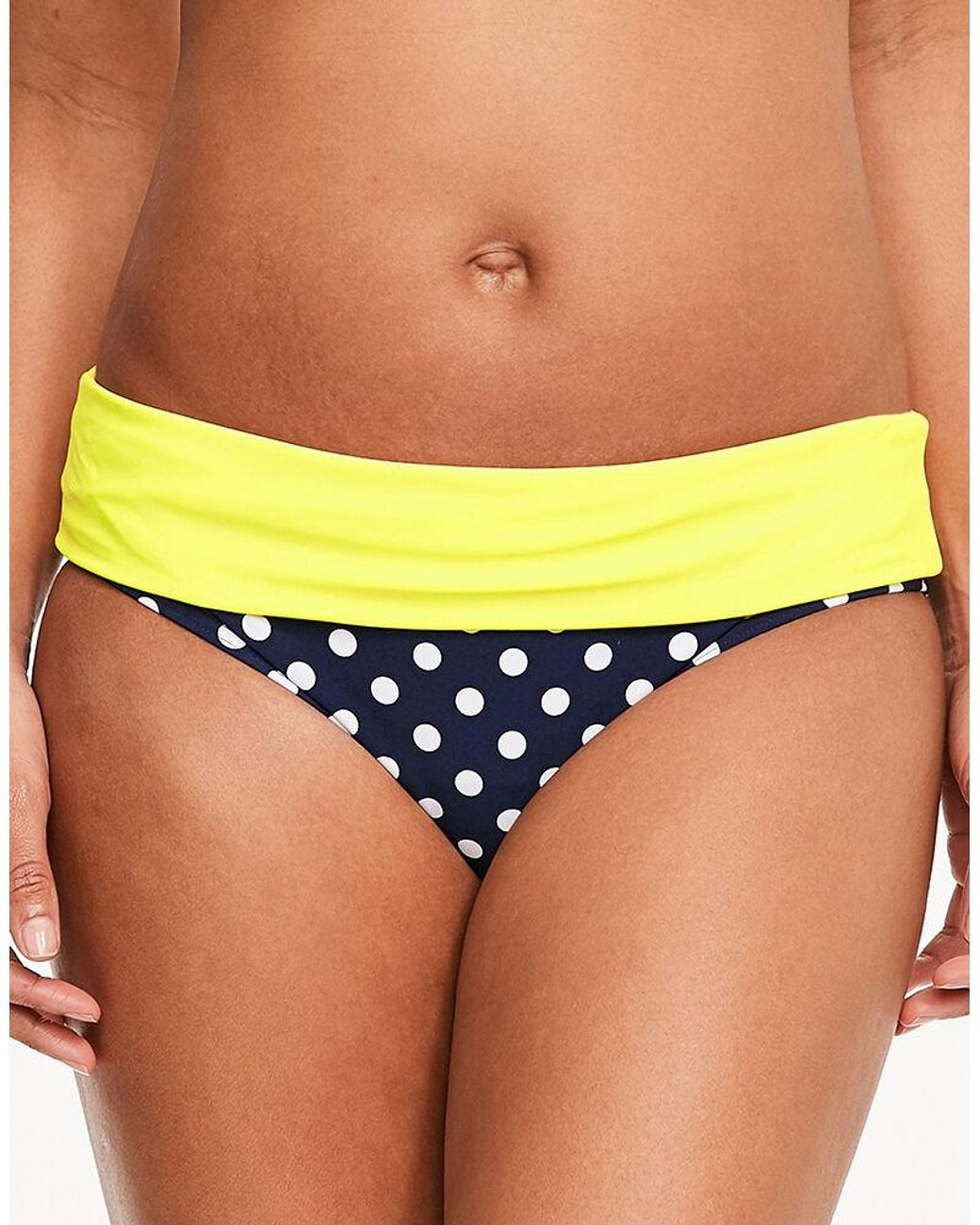 Figleaves Womens Tuscany Spot Fold Bikini Brief