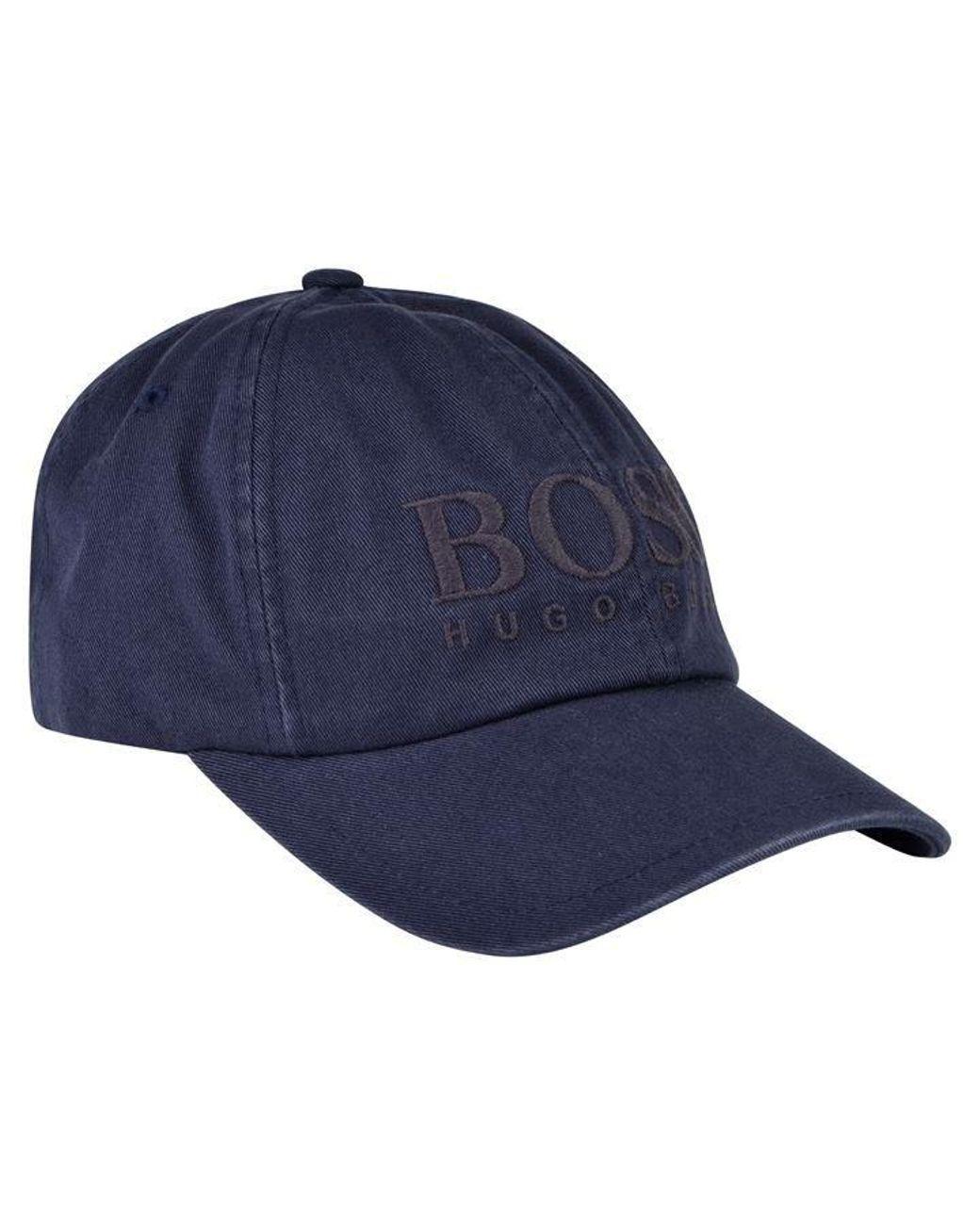 e2bd5077 BOSS by Hugo Boss Fritz Logo Cap in Blue for Men - Lyst