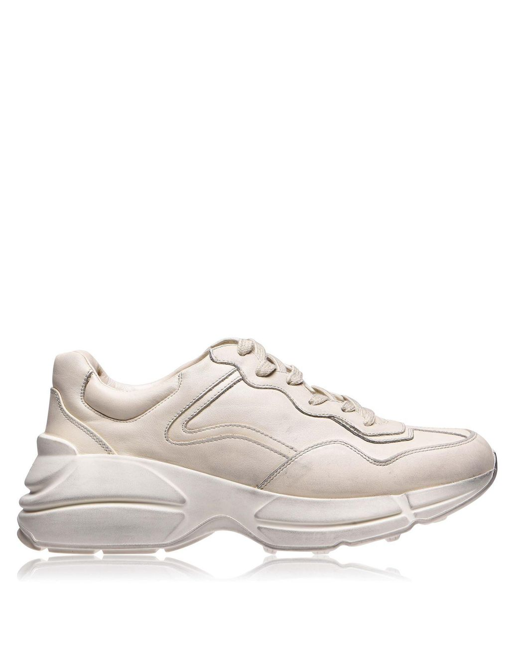 Gucci Rhyton Plain Runners in White for