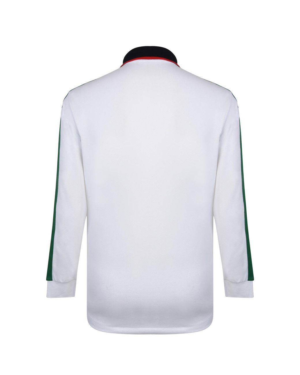 1ae79986e33 Lyst - Gucci Tape Long Sleeve Polo Shirt in White for Men - Save 11%