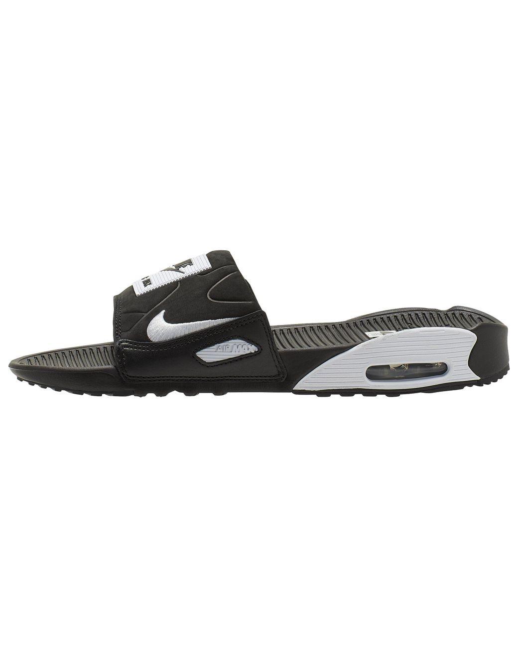 Nike Air Max 90 Slide in Black/White (Black) for Men - Save 53% - Lyst