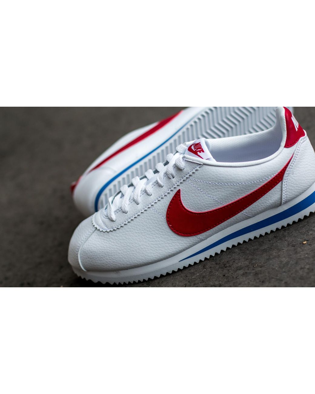 great fit aec65 0608c Nike Classic Cortez Leather White  Varsity Red-varsity Royal in White -  Save 20% - Lyst