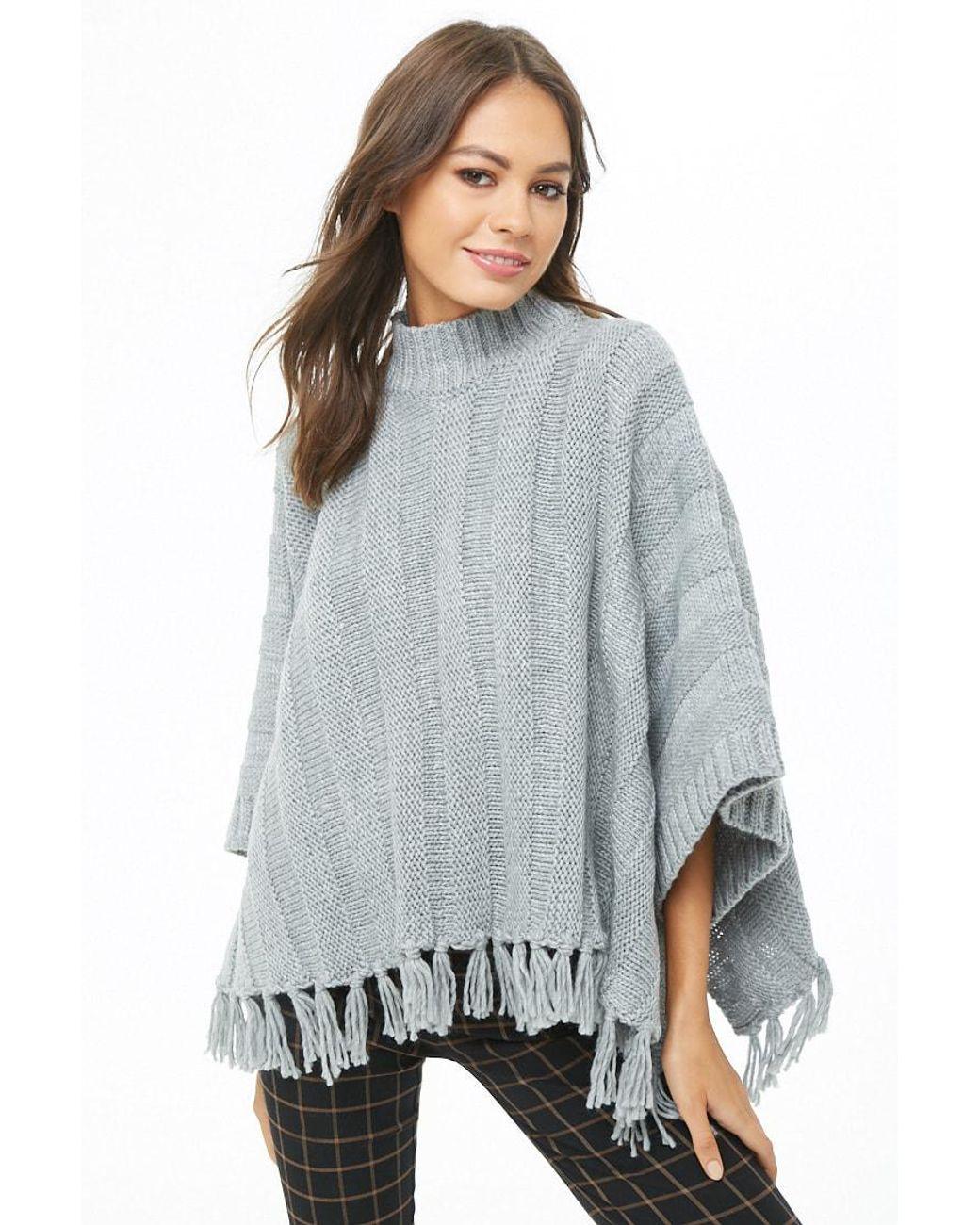 Forever 21 Women\u0027s Fringe,trim Mock Neck Sweater Dress in