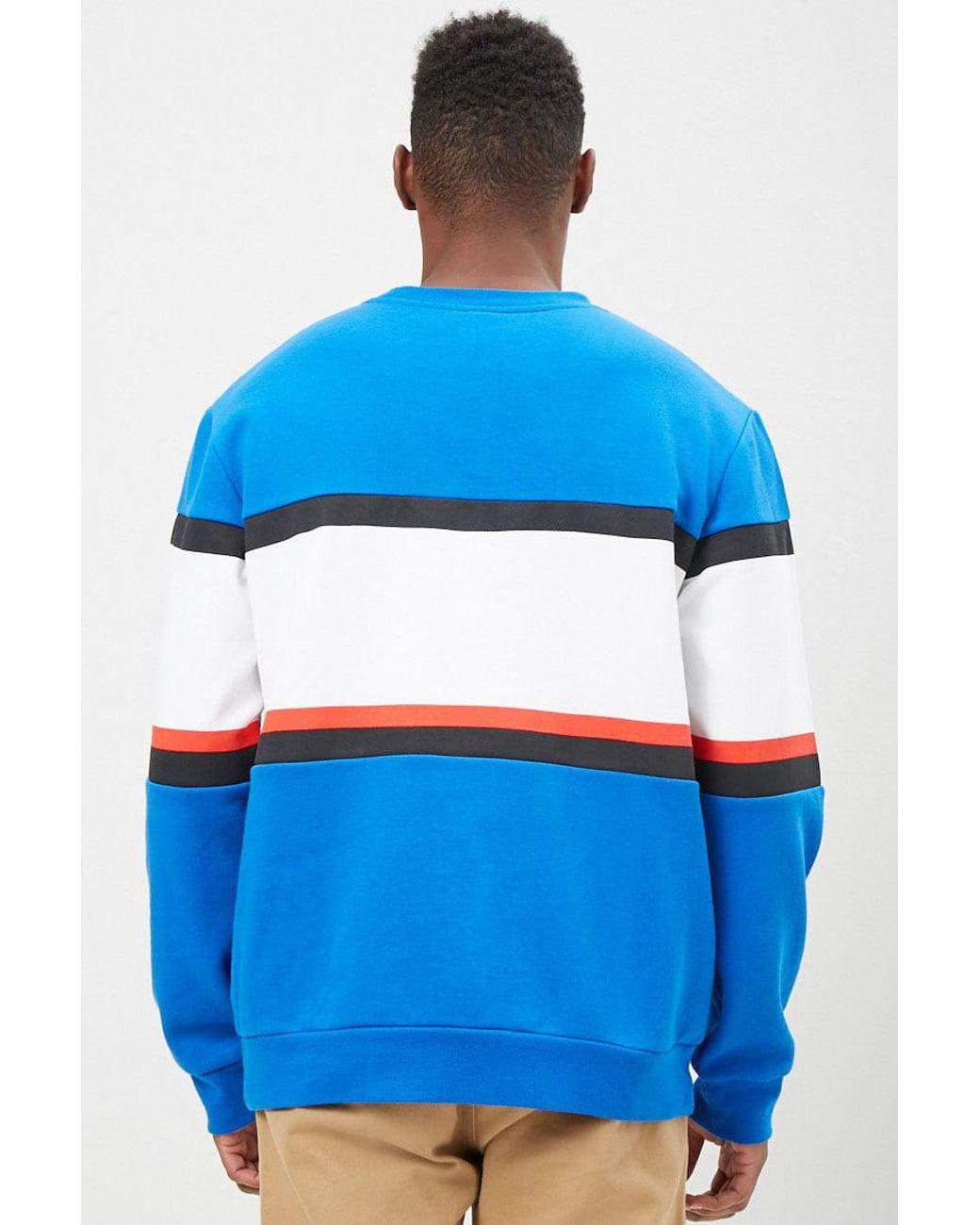 Forever 21 Fleece 's Pepsi Logo Colorblock Sweatshirt in