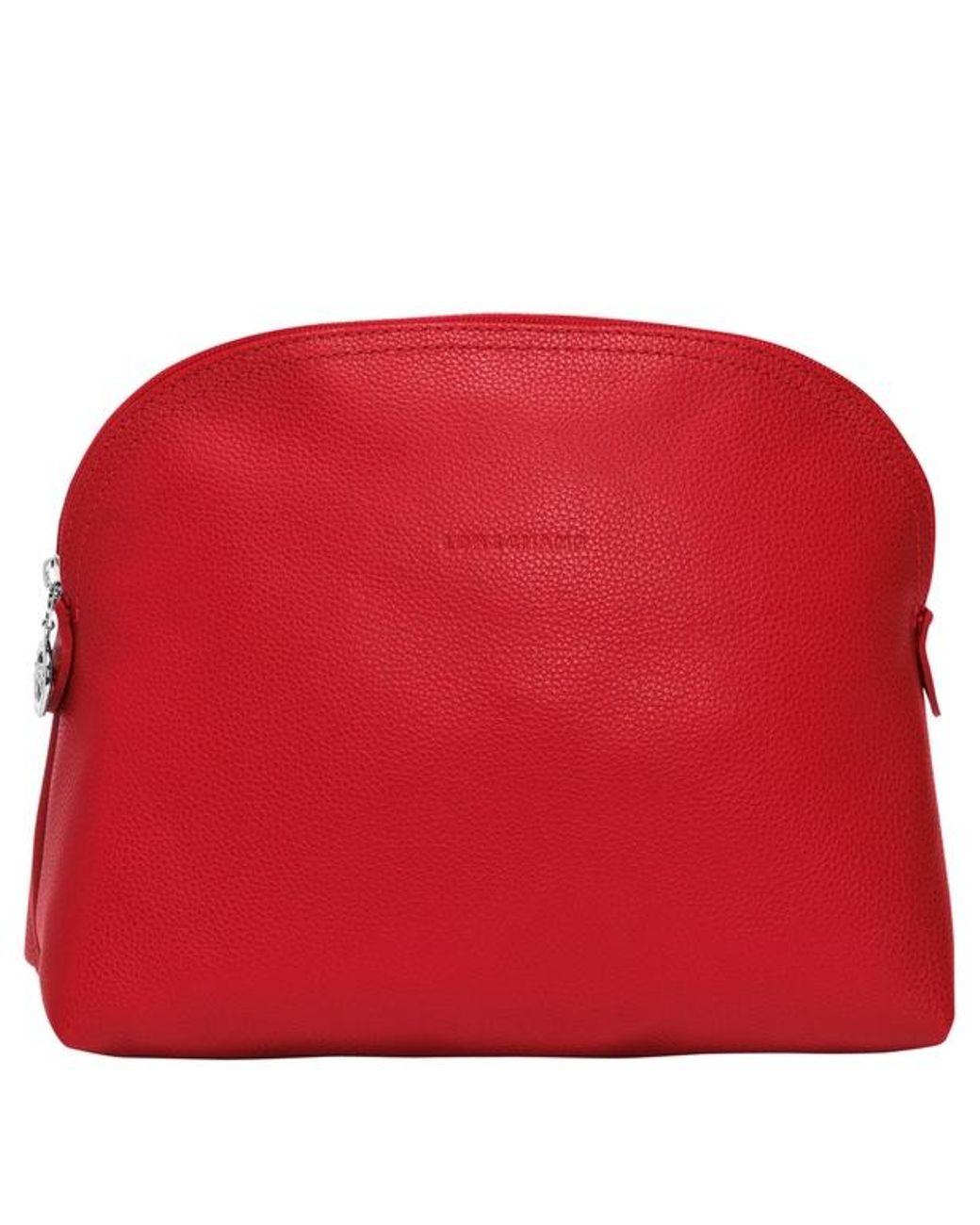 Trousse de toilette Le Foulonné femme de coloris rouge