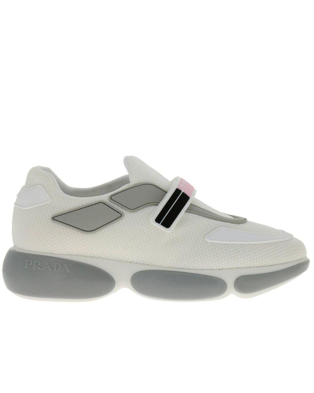 3dde898d7b Lyst - Prada Sneakers Shoes Women in White