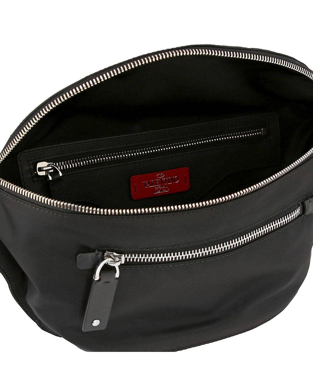 484875a35384f Valentino Belt Bag Bags Men in Black for Men - Lyst