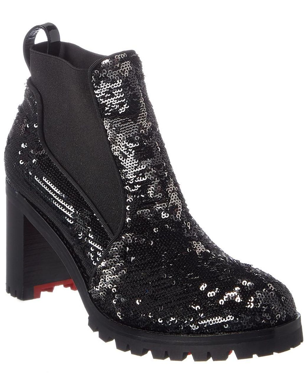 official photos dd64e 26772 Women's Black Marchacroche 70 Sequin Ankle Boot