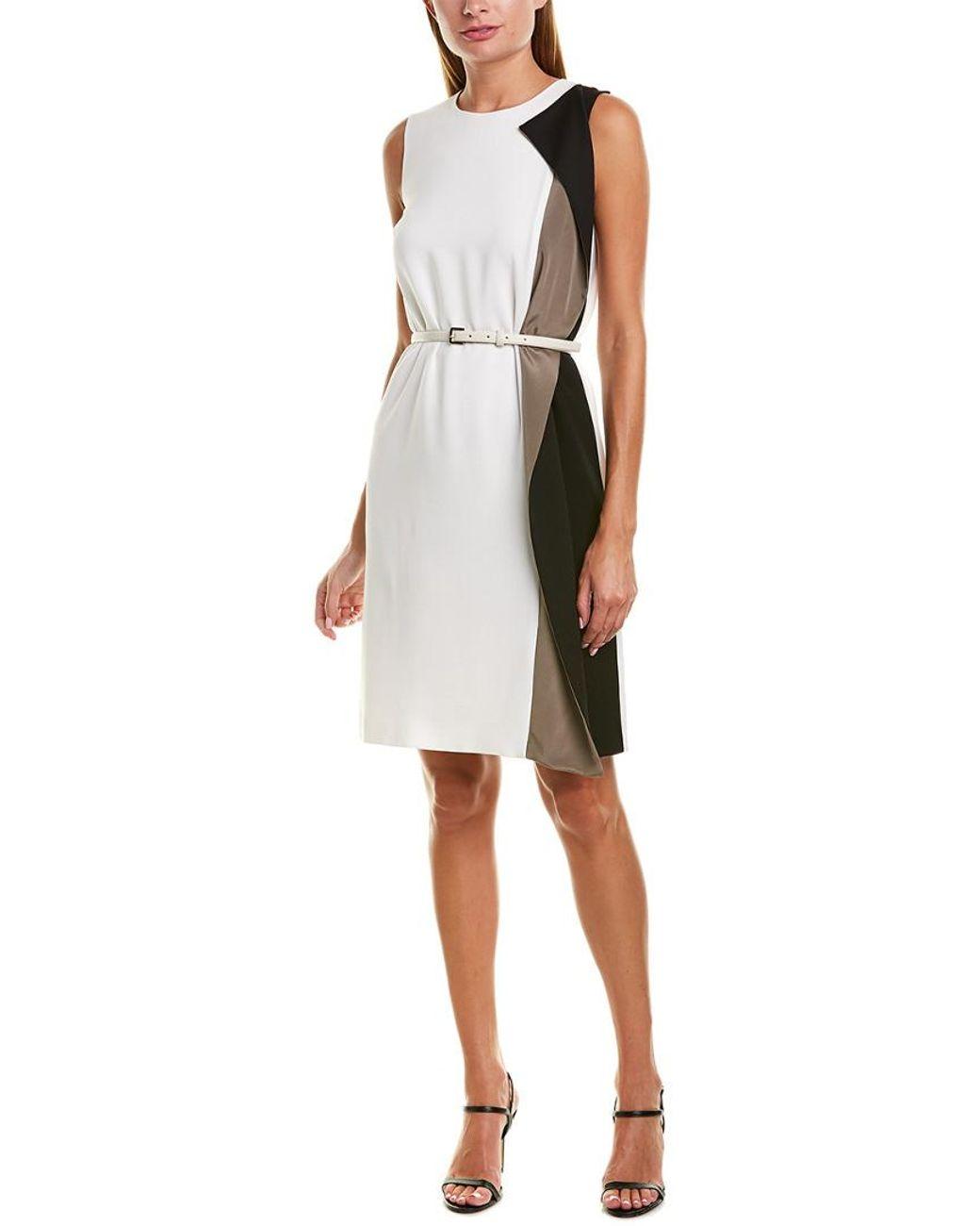 Silk Trim Sheath Dress