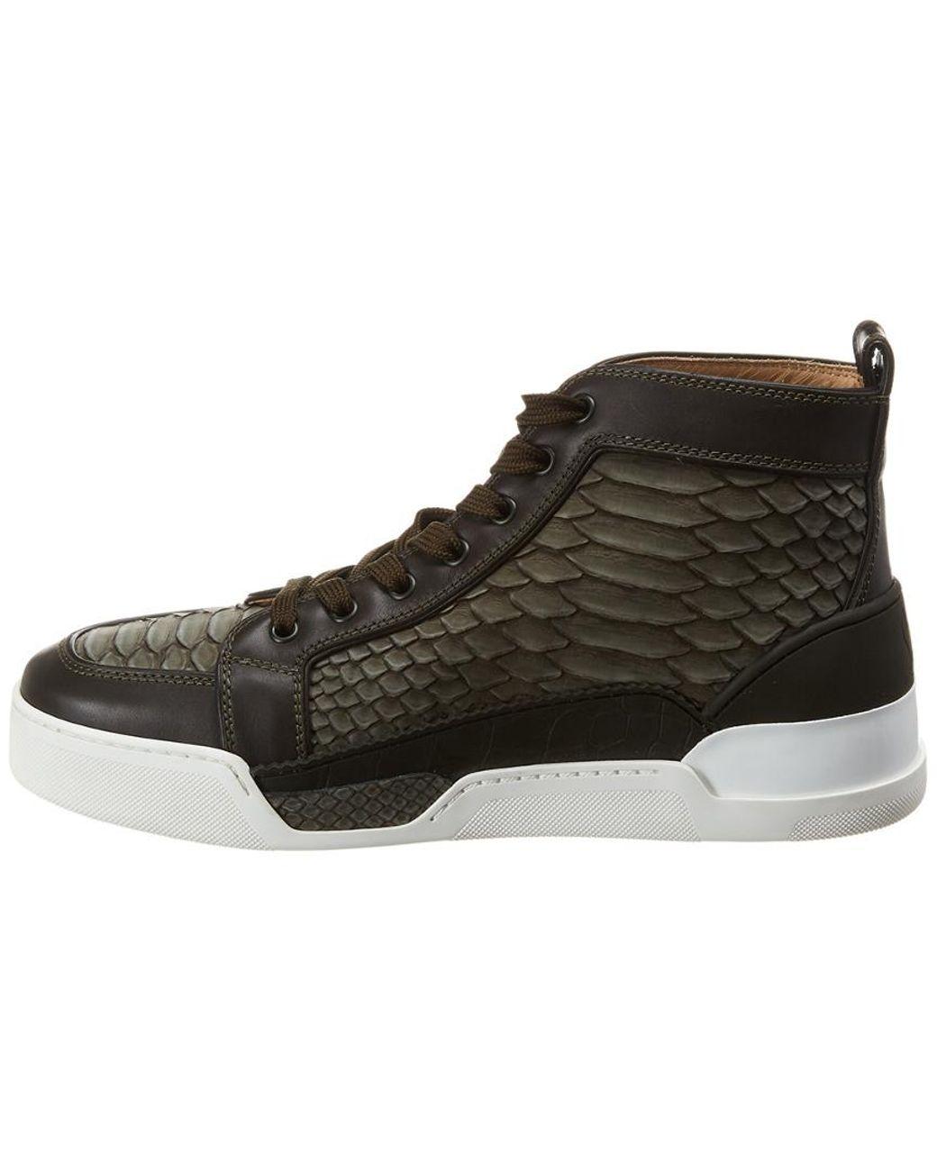 cheaper 0864e 49f07 Men's Green Rankick Leather Sneaker