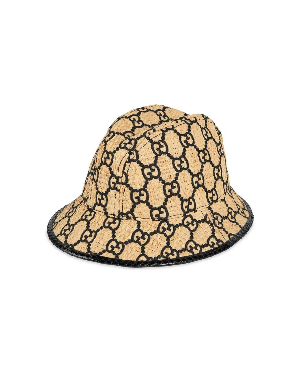 88a5c36be Women's Natural Gg Fedora Hat With Snakeskin