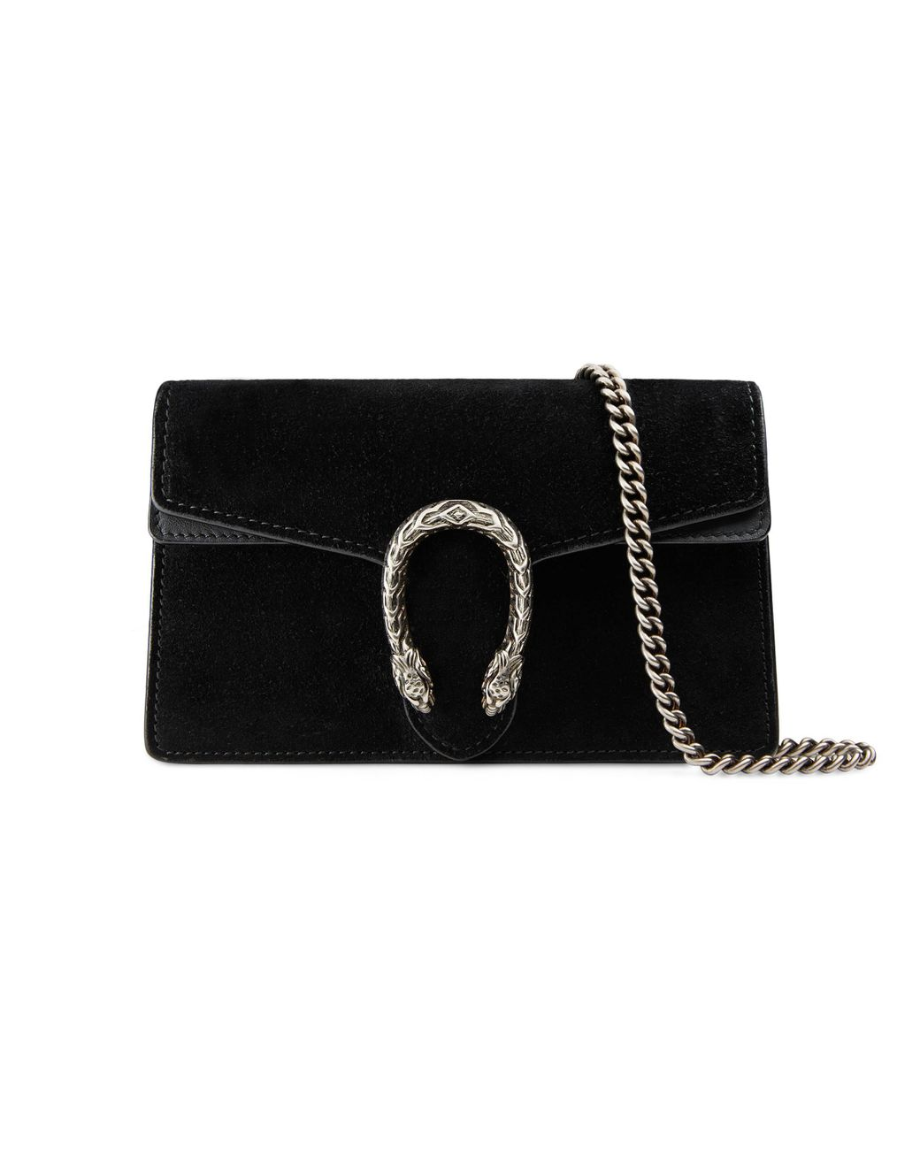 e27a145d1a71 Gucci Dionysus Suede Super Mini Bag in Black - Save 9% - Lyst