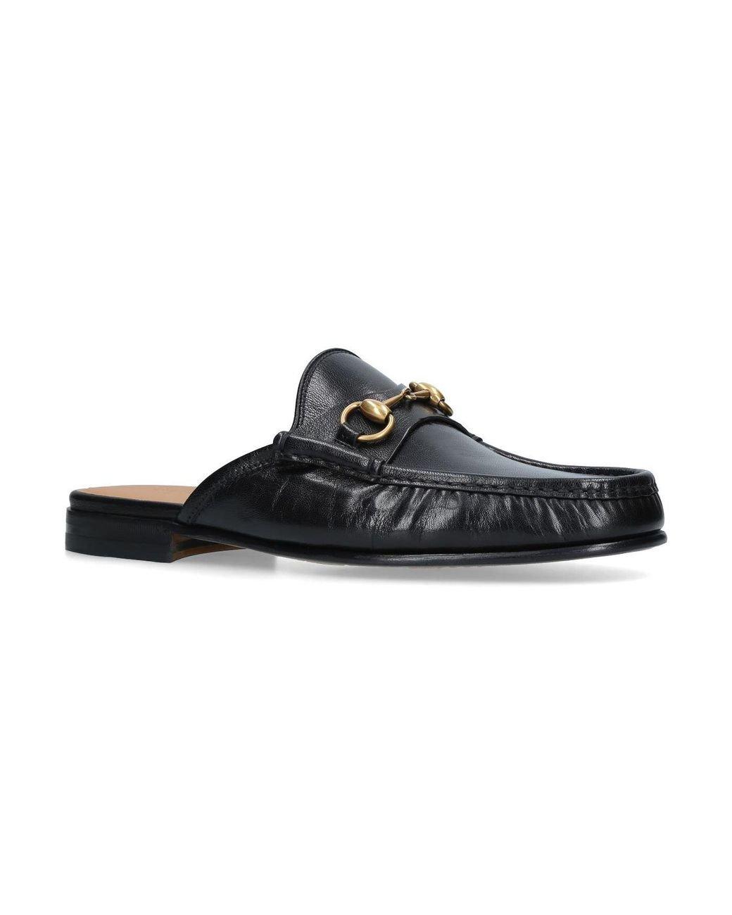 887e090cbb4 Lyst - Gucci Horsebit Leather Slipper in Black for Men - Save 6%