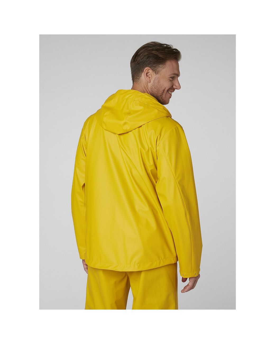 Essential Yellow Hombre Helly Hansen Moss Outdoor Chaqueta Impermeable