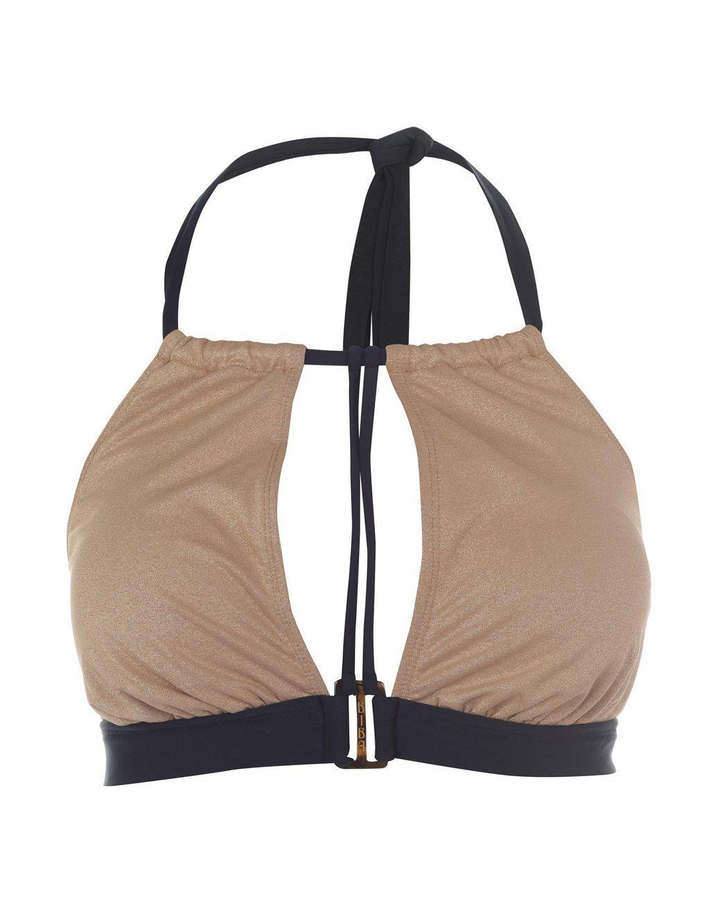 Biba Womens Naomi Metallised Briefs Bikini Elasticated Waist