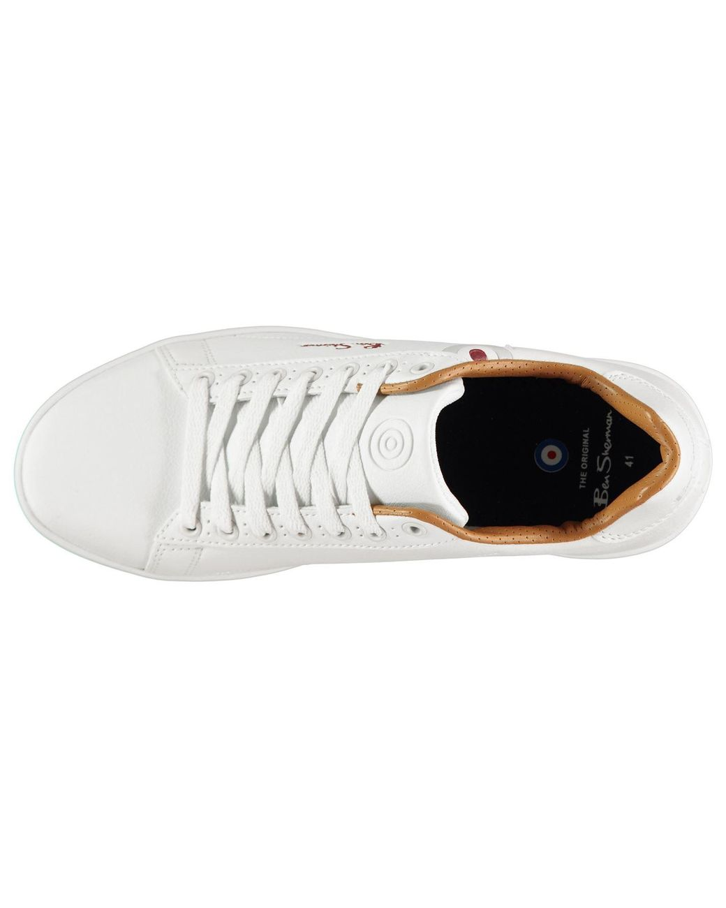 Ben Sherman Target Sneakers Mens Gents Low Laces Fastened Padded Ankle Collar