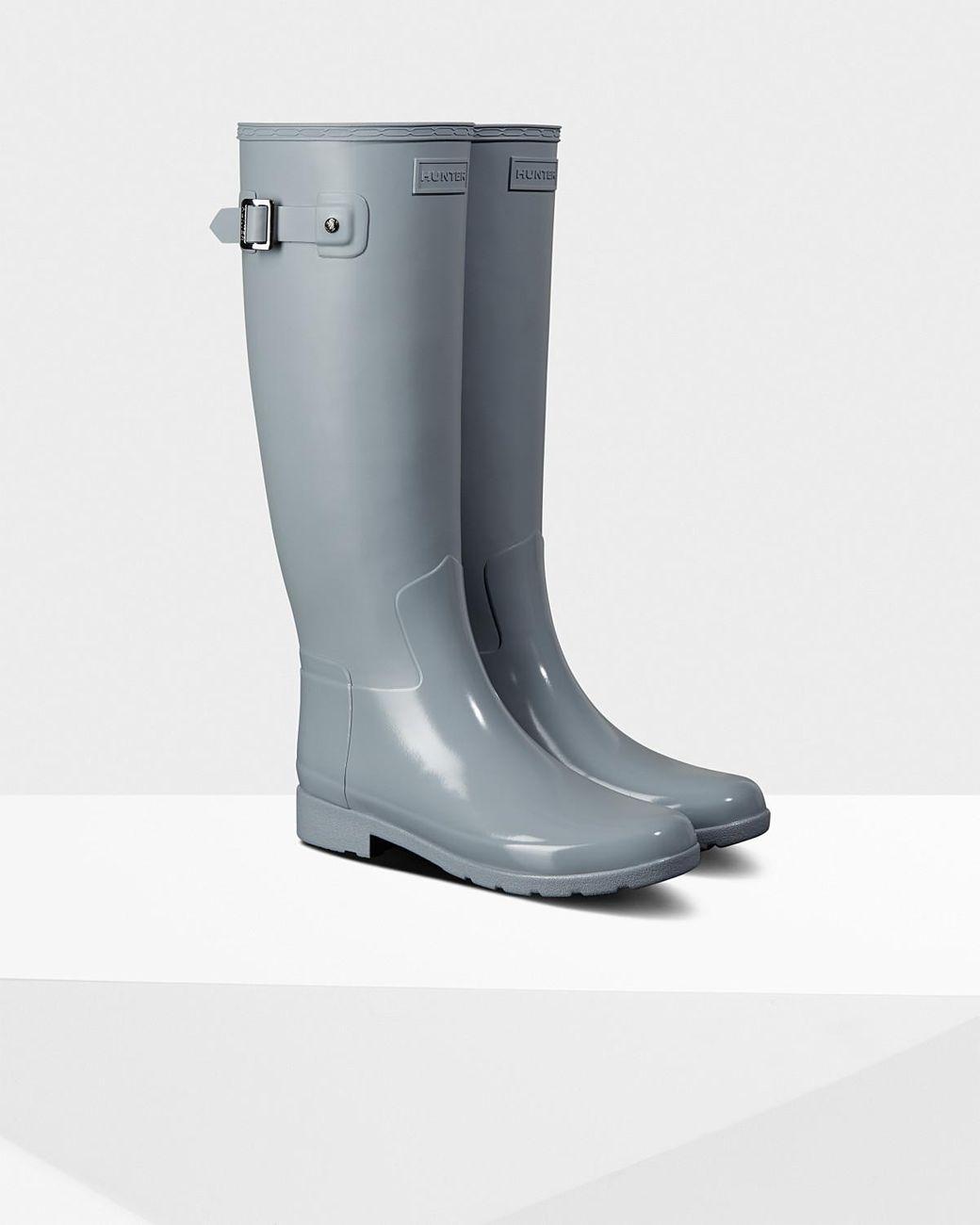 cd139fd8a31 Women's Gray Refined Slim Fit Gloss Duo Tall Rain Boots