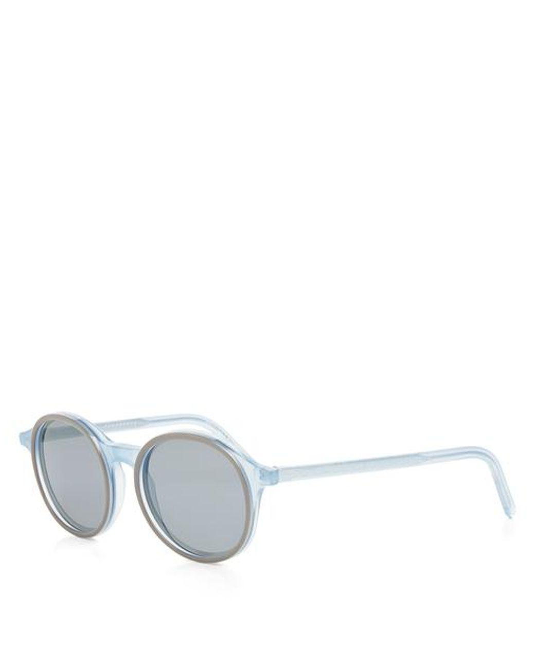 4591dc91f Lyst - Tomas Maier Transparent Round Frame Sunglasses