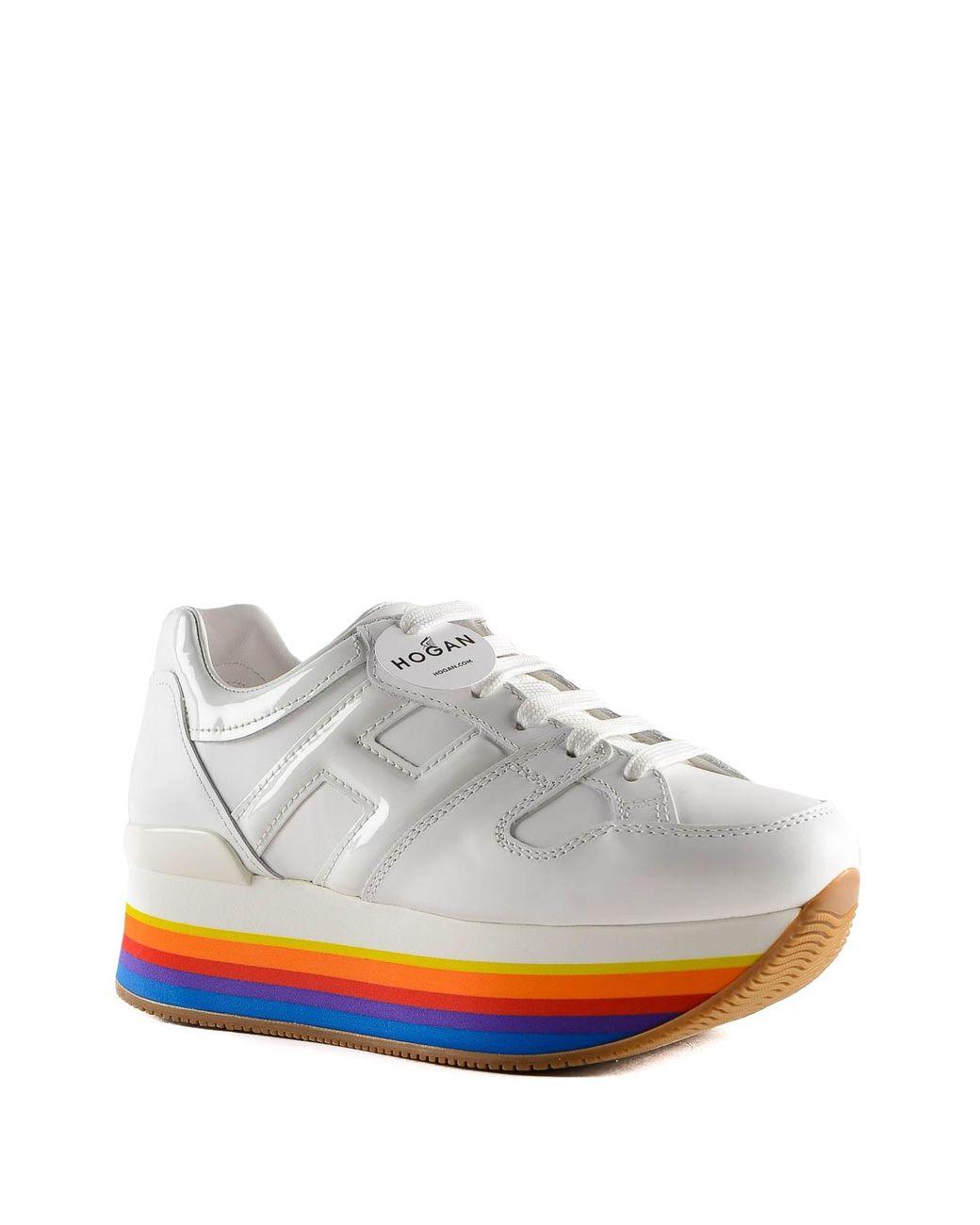 Maxi H222 Rainbow Platform Sneakers