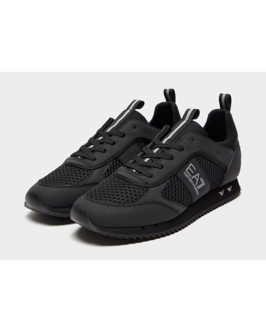 EA7 Synthetic B\u0026w Mesh Run in Black