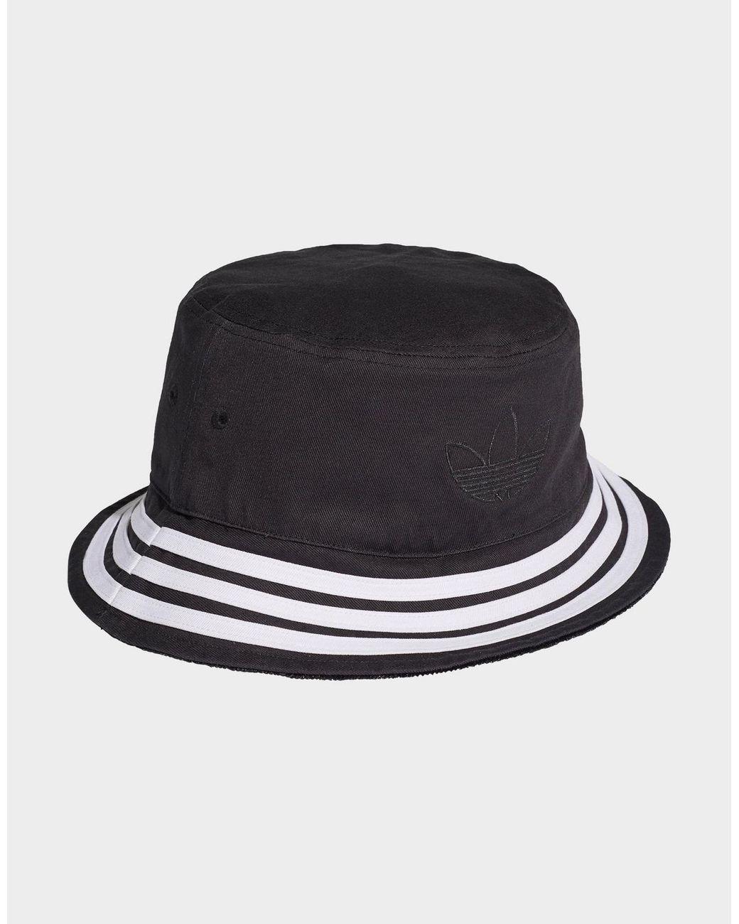 Adidas Originals Velvet Trefoil Bucket Hat In Black For Men Lyst