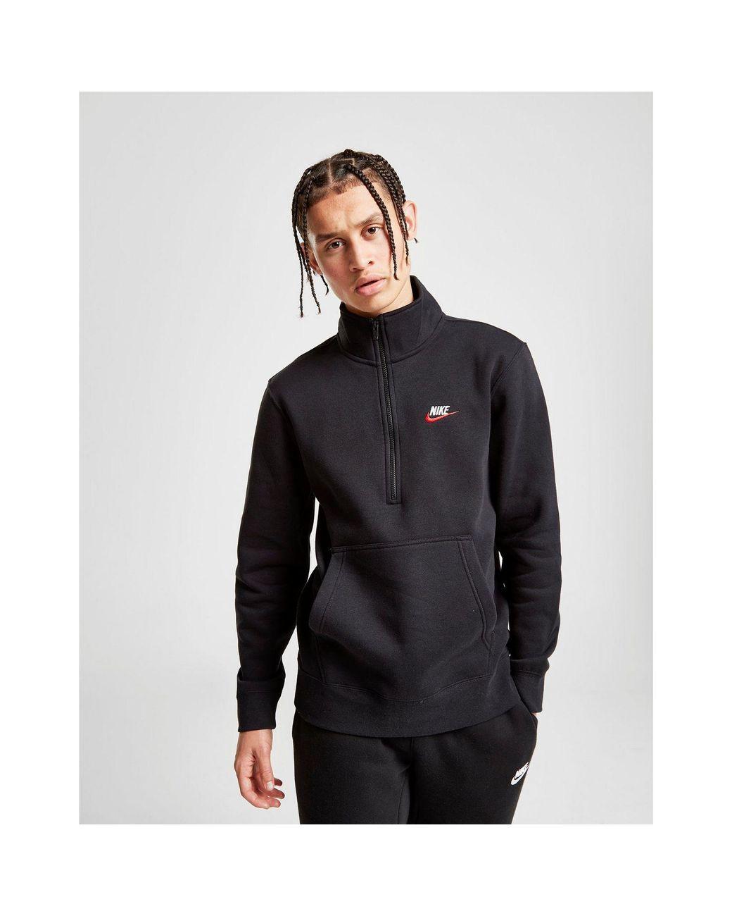 ebffa792d7d2 Nike Foundation 1 2 Zip Sweatshirt in Black for Men - Lyst
