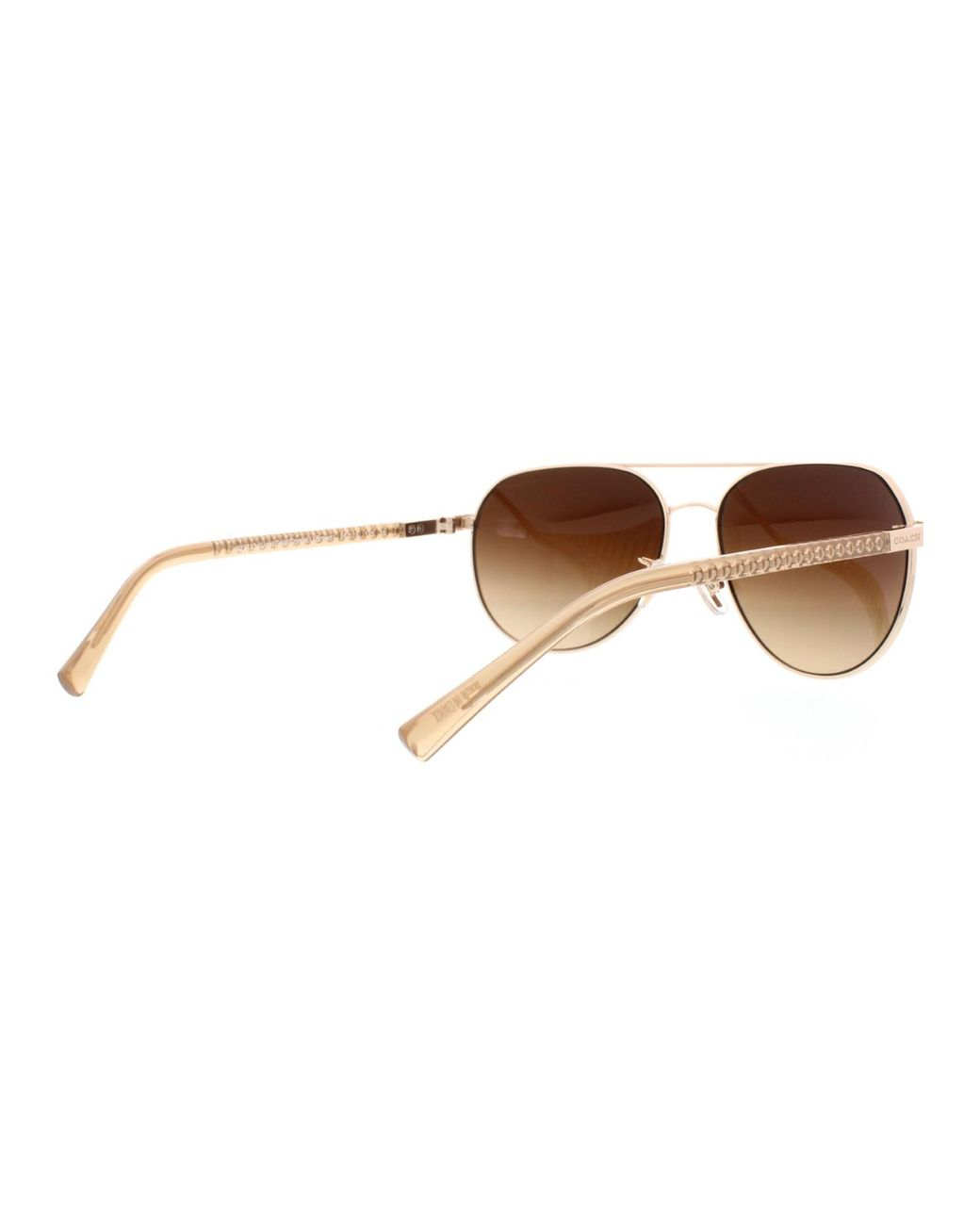 b933e6435 COACH Hc7053 L137 Sunglasses Light Gold/ Crystal Lt / Gradient in Brown -  Save 12% - Lyst