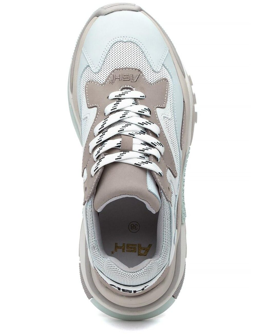 Ash Leather Addict Sneaker Grigio/white