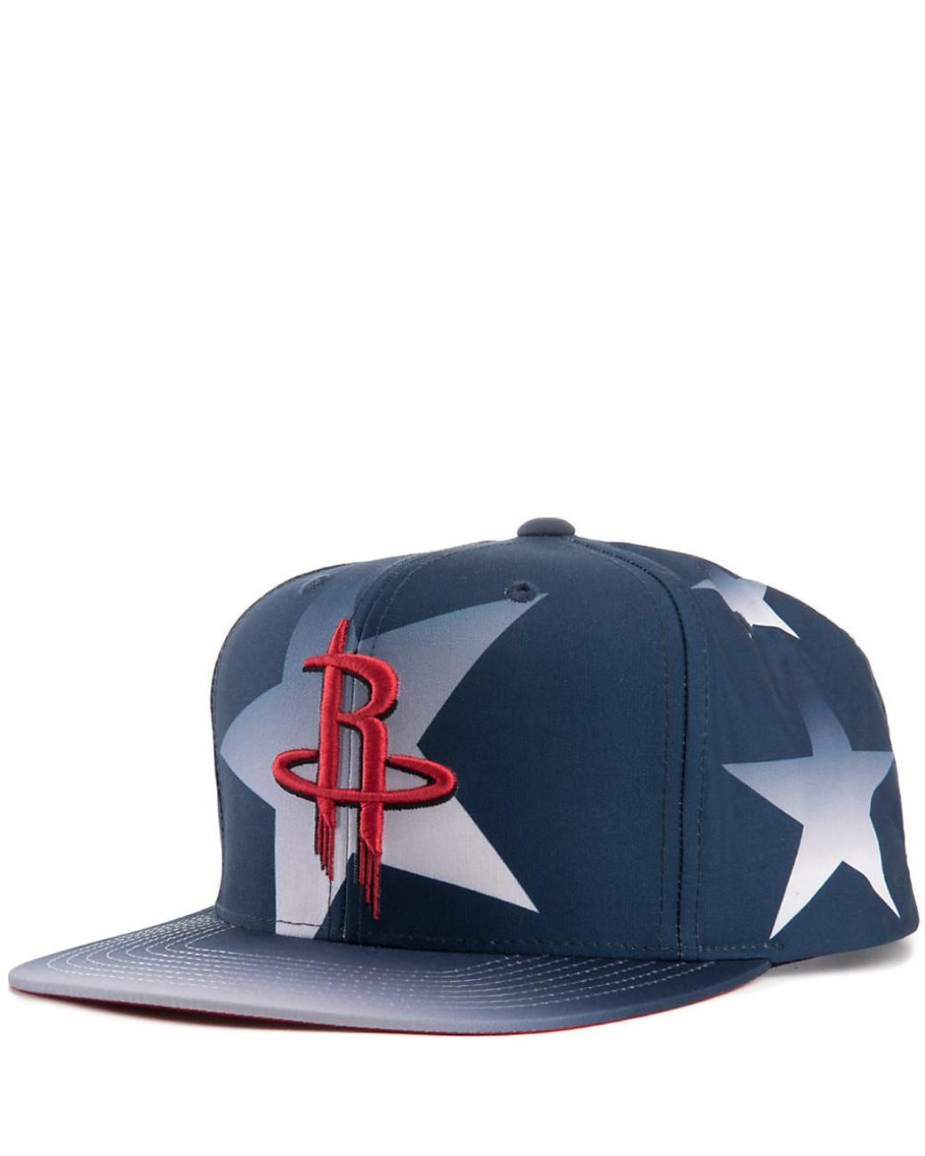 cute cheap preview of outlet Mitchell & Ness Denim Houston Rockets Snapback in Blue for Men - Lyst