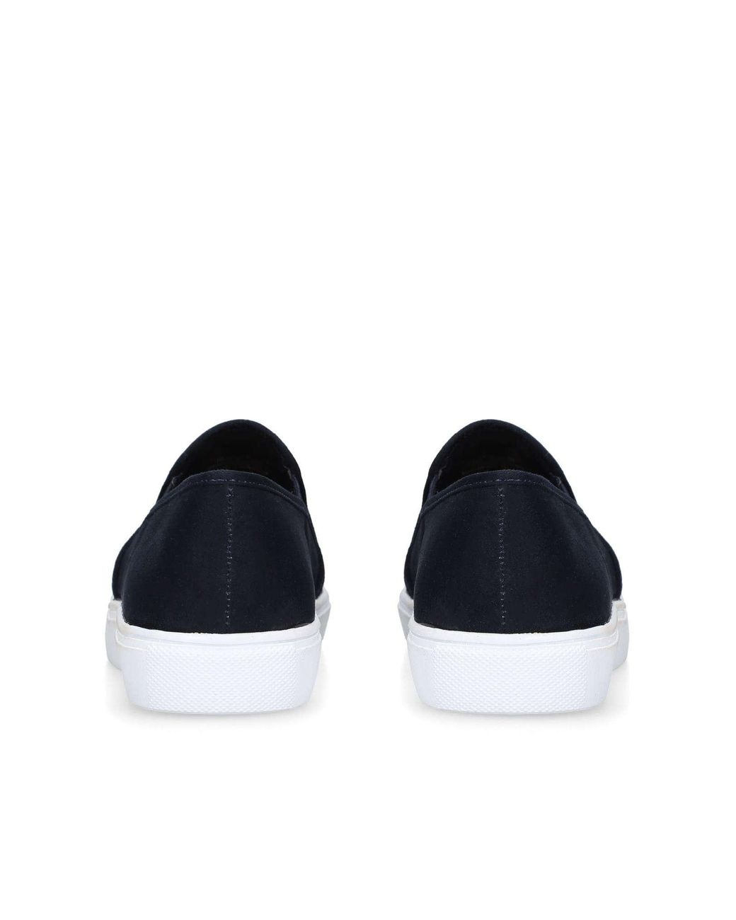Navy Studded Slip On Trainers
