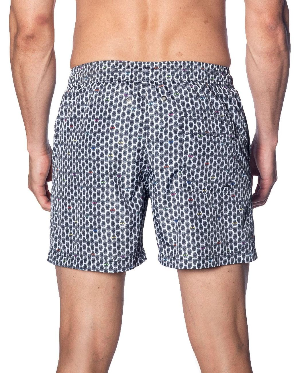 Alangbudu Camouflage Swimsuit Slim Fit Swim Trunks Elastic Waist Drawstring Pocket Beach Board Short Athletic Durable