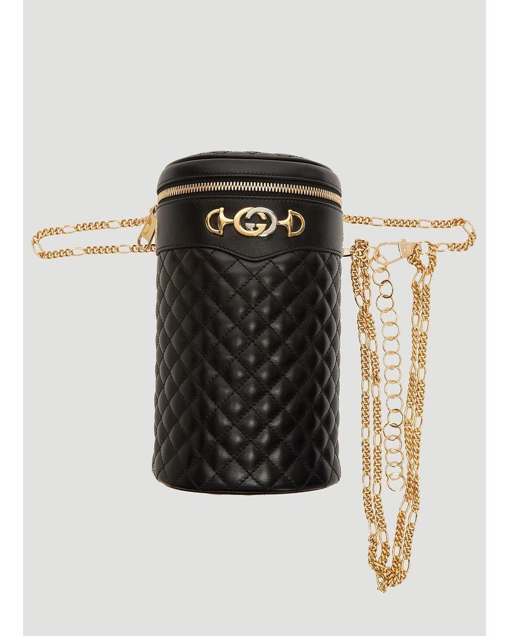 f8fa4e0dc76f Lyst - Gucci Quilted Leather Belt Bag In Black in Black
