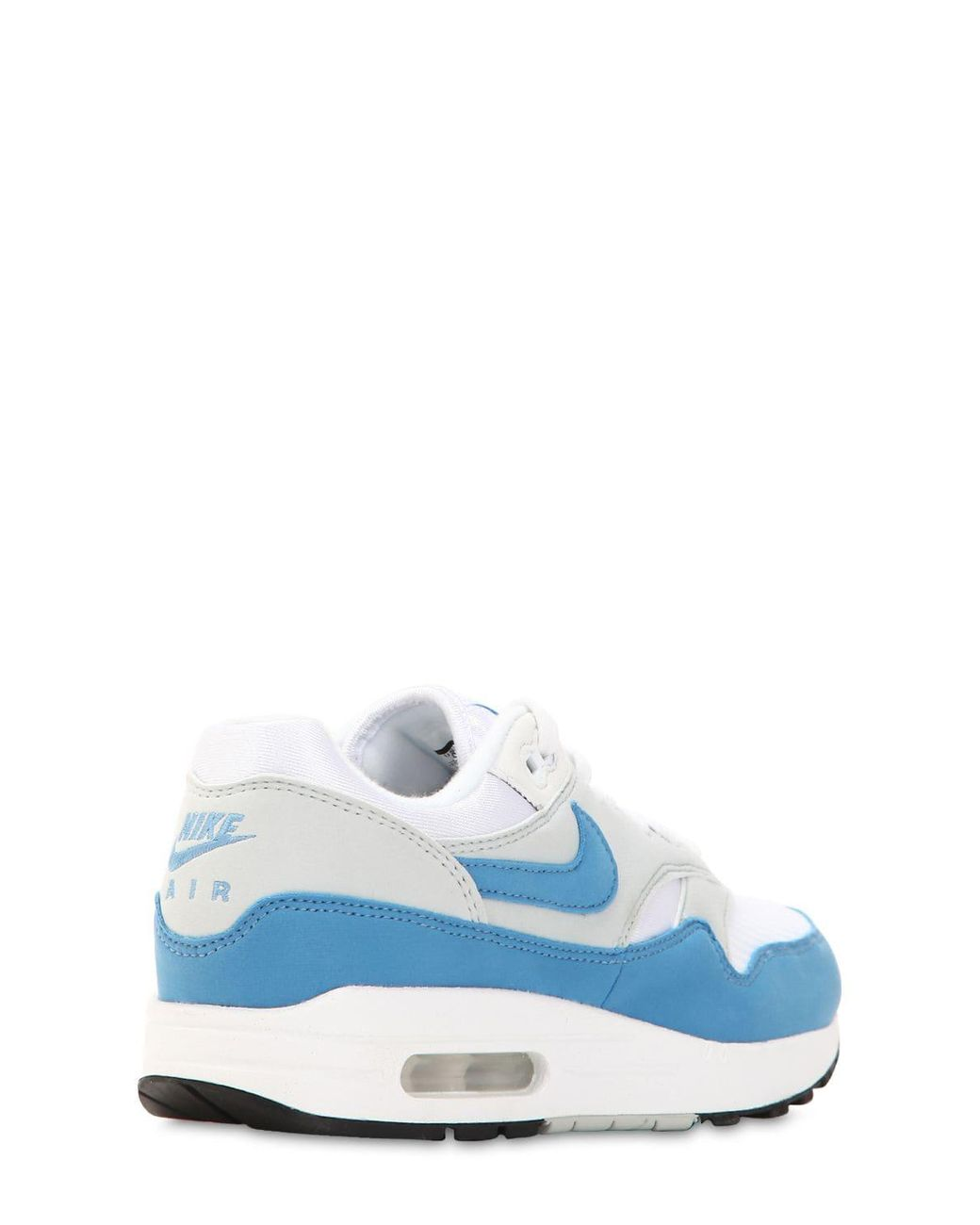batalla Química Independiente  Nike Leather Air Max 1 Gel Sneakers in White/Blue (Blue) - Save 30% - Lyst