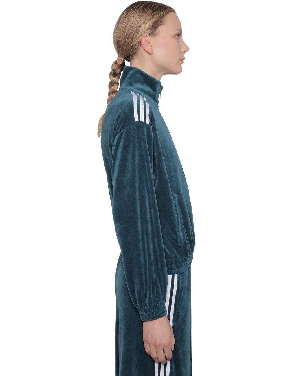 Women's Blue Bellista Velvet Sweatshirt