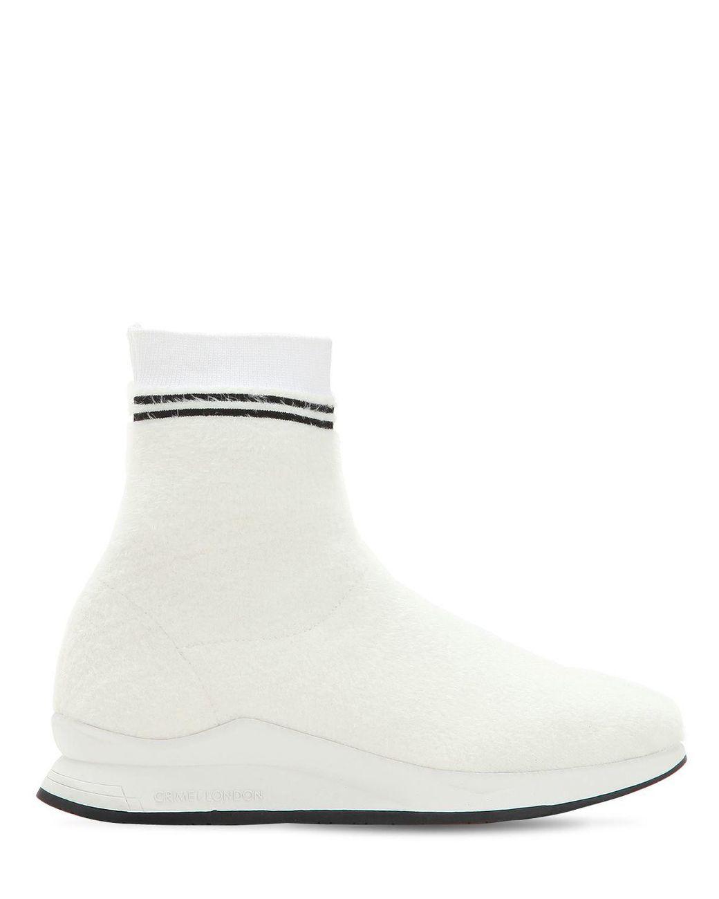 20mm Afeni Blanc Style Coloris Crime En Lyst Baskets Chaussettes CeQBorWdx