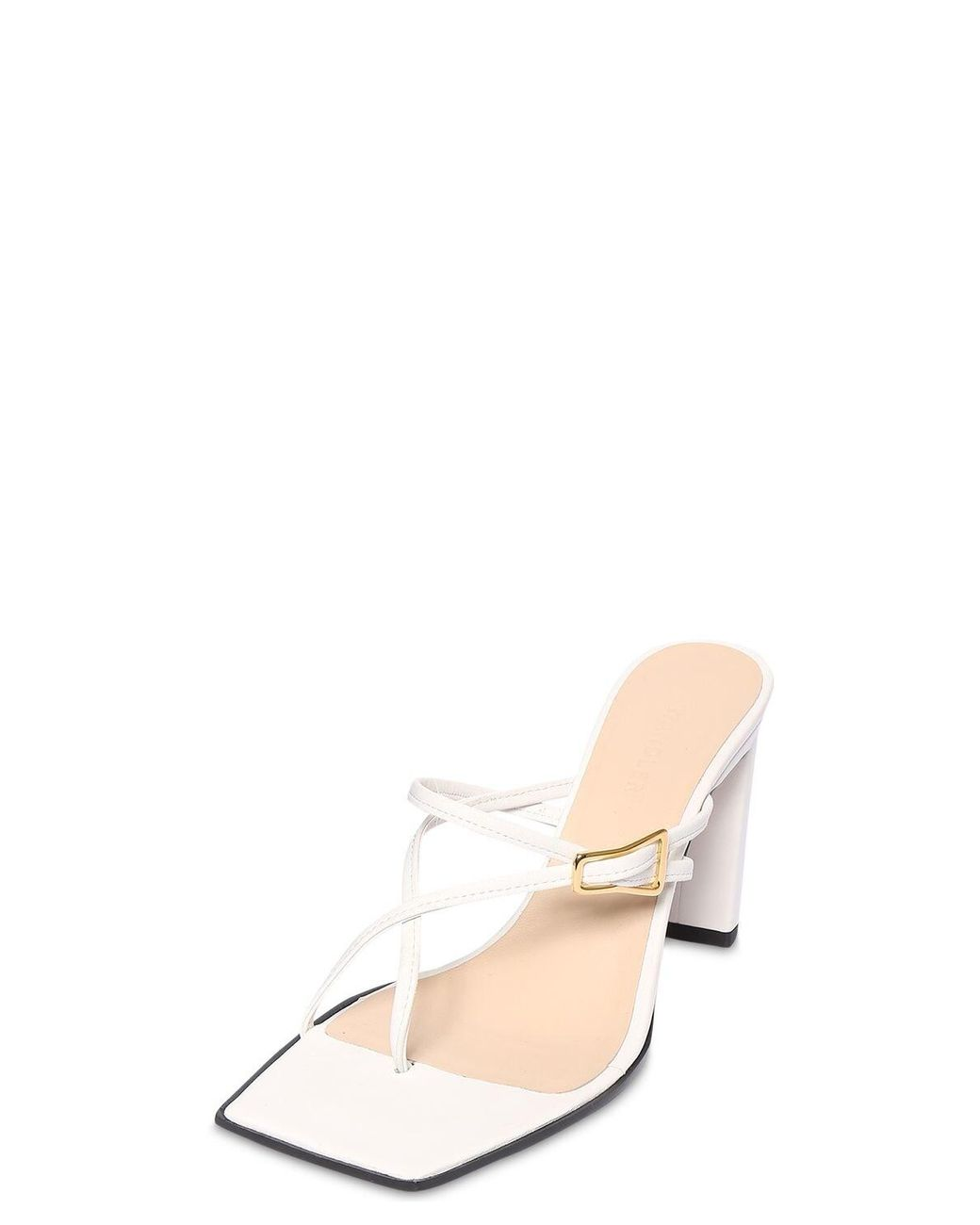 Wandler 85mm Yara Leather Sandals in White - Lyst