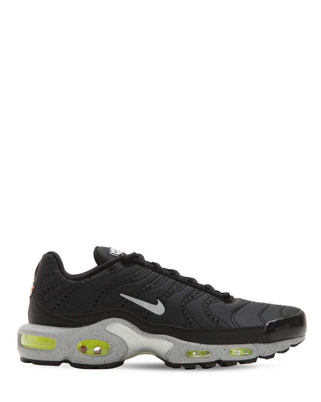 93095e94ed Nike Air Max Plus Premium Sneakers in Black for Men - Lyst