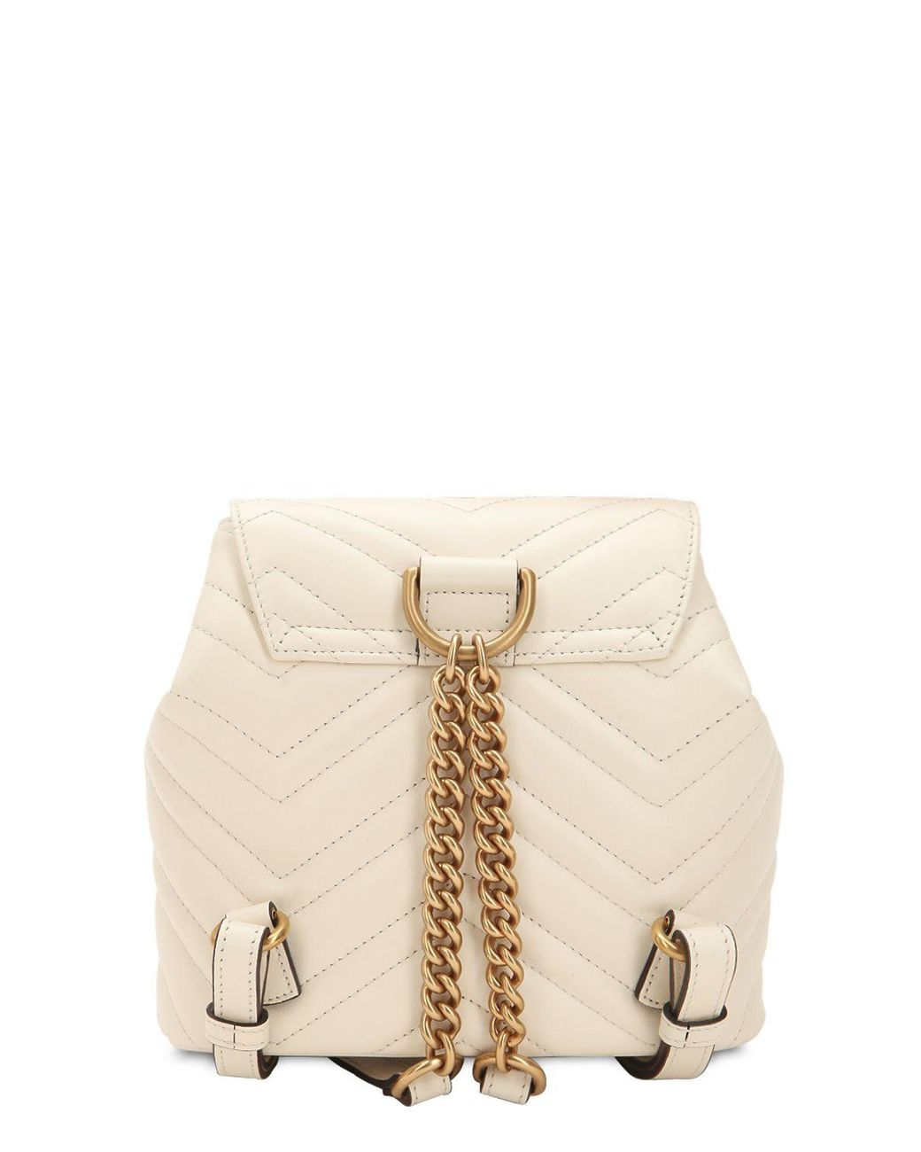 e52955119c41fc Gucci Mini Gg Marmont Leather Backpack in White - Save 15% - Lyst