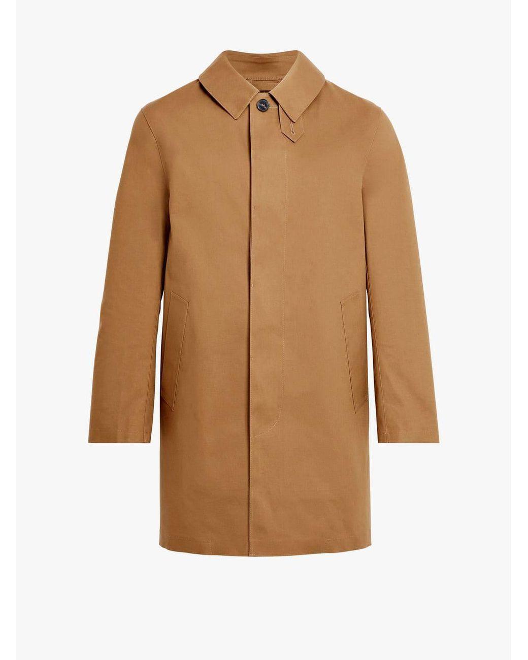 d22f6dfd3 Mackintosh Bronze Brown Bonded Cotton Short Coat Gr-002d in Brown ...