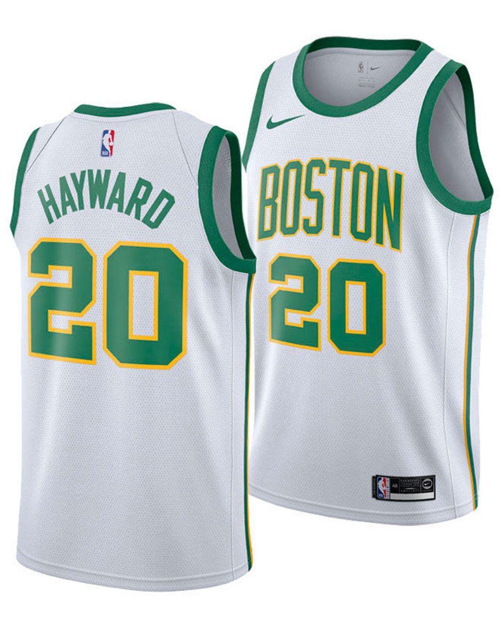 promo code ec438 42778 Men's White Gordon Hayward Boston Celtics City Swingman Jersey 2018