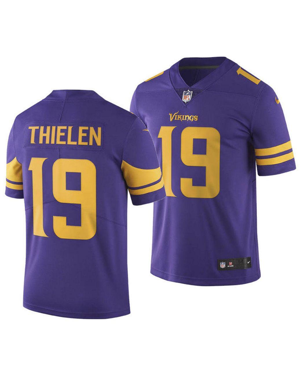 best sneakers 0bdad b3451 Men's Purple Adam Thielen Minnesota Vikings Limited Color Rush Jersey