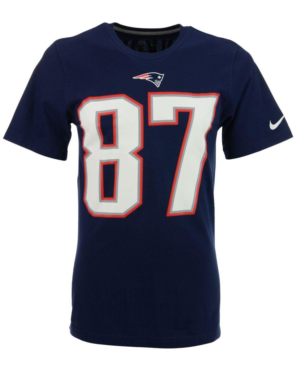 100% authentic 1de1c 778d6 Blue Men's Short-sleeve Rob Gronkowski New England Patriots Player T-shirt