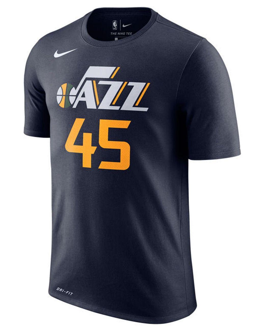 promo code 3e5ef 19a40 Men's Blue Donovan Mitchell Utah Jazz Icon Player T-shirt