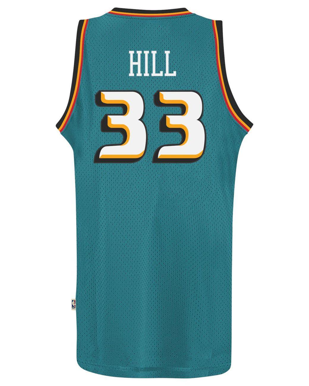 new styles 16549 c4e22 Blue Men's Grant Hill Detroit Pistons Retired Player Swingman Jersey